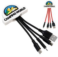 Full Color 3D Custom 3-in-1 Charging Cable