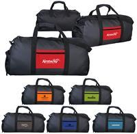 CPP-5595 - Textured Linen Pocket Duffle Bag