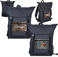 CPP-5625 - Leopard Pocket Strap Backpack