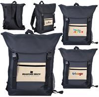 Cotton Pocket Strap Backpack
