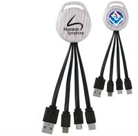 CPP-5693 - White Wood Vivid 3-in-1 Charging Cable