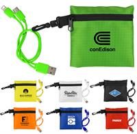 Trendy Pouch with Duo Charging Cable