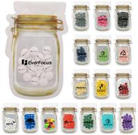CPP-5771 - Mason Jar Bag Of Printed Candy