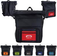 CPP-5796 - Textured Linen Pocket Cooler Combo Backpack