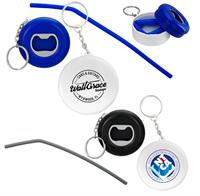 CPP-5920 - Bottle Opener Container With Straw