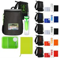Colorful Lunch & Notebook Backpack Set