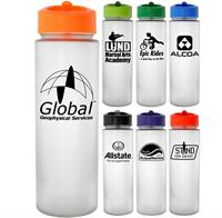 Pop Up 22 oz. Frosted Glass Grip Bottle