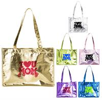 Full Color Metallic Large Tote