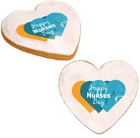 Nurses Day Full Color Heart Cookie