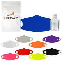 Large Zipped Up Colorful Mask Set