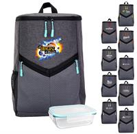 CPP-6457 - Victory Cooler Backpack Bamboo Lunch Set
