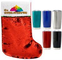 H8630 - Travel Mug Sequin Stocking