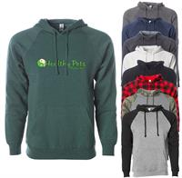 PRM33SBP FULL COLOR IMPRINT AVAILABLE!!! - INDEPENDENT TRADING CO. UNISEX SPECIAL BLEND RAGLAN HOODED PULLOVER