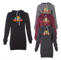 PRM65DRS - INDEPENDENT TRADING CO. MIDWEIGHT SPECIAL BLEND HOODED PULLOVER DRESS