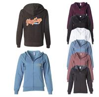 WOMENS LIGHTWEIGHT ZIP HOODED SWEATSHIRT